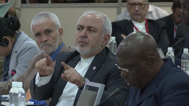 VIDEO: US economic terrorism is not 'sanctions', says Zarif at NAM meeting