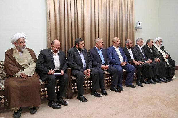 Hamas deputy head meets Ayatollah Khamenei
