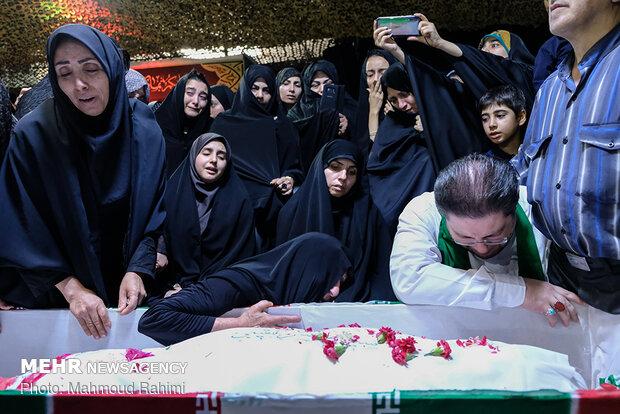 وداع با پیکر مطهر شهید «سید محسن نقیبی» در معراج شهدا