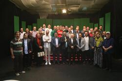 بازدید معاون امور استانهای صدا و سیما از پشت صحنه یک سریال طنز