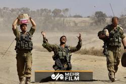 اسرائیلی فوجیوں کا فلسطینیوں کے گھر گرانے کے بعد جشن