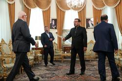 دیدار هیات عالی رتبه حماس با دبیر شورای عالی امنیت ملی ایران