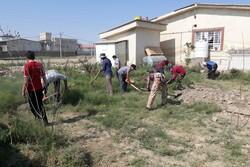 حضور گروه های جهادی دانش آموزی چهارمحال در مناطق سیل زده گلستان