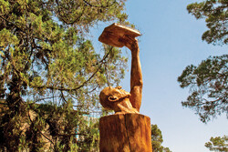 """Dried-out trees come to life again by """"Wooden Memory"""""""