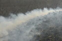 هلی برن نیرو برای مهار آتش سوزی مناطق حفاظت شده دیل گچساران
