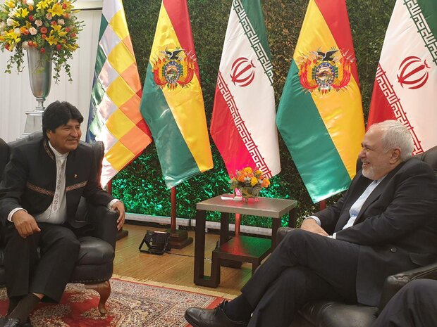 Zarif meets Bolivian President