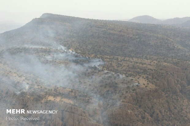 Army copters rescue people trapped in oak forest fires in Fars province