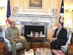 پاکستانی آرمی چیف کی امریکی وزیر خارجہ سے ملاقات