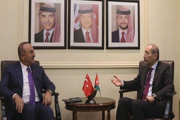رایزنی وزرای خارجه اردن و ترکیه درباره تحولات منطقه
