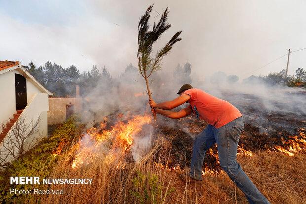 آتش سوزی گسترده در پرتغال
