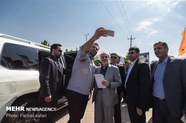 بازدید محمد باقر نوبخت از طرح نیمه کاره جاده قزوین