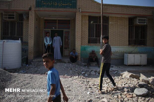 سفر سید جواد حسینی سرپرست آموزش و پرورش به مناطق سیل زده خوزستان