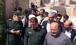 سرلشکر سلامی از مناطق زلزلهزده مسجدسلیمان بازدید کرد