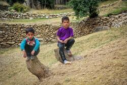 گاؤں کے بچوں کے تفریحی اوقات