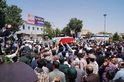 مراسم تشییع پیکر پاسدار شهید ستوانیکم «سیدهادی اجاق»