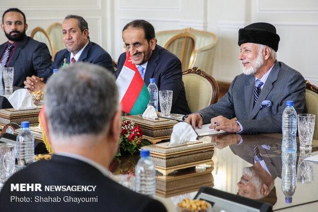 دیدار محمد جواد ظریف با  یوسف بن علوی وزیر امور خارجه عمان