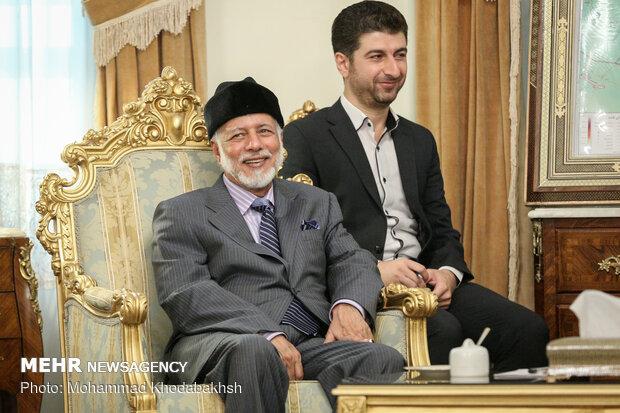 دیدار دبیر شورای عالی امنیت ملی ایران و وزیر امور خارجه عمان