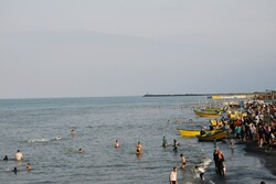 Holidaymakers enjoy summertime in Astara's warm waters