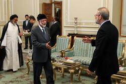 Parl. speaker Larijani, FM bin Alawi meeting in Tehran