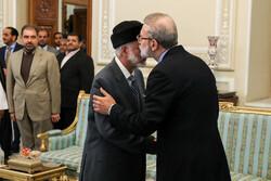 دیدار وزیر امور خارجه عمان با رئیس مجلس شورای اسلامی