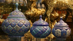 A file photo shows Iranian handicrafts