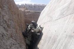 سقوط پیکانوانت از پل در محور آرادان-سرخه/ راننده نجات یافت