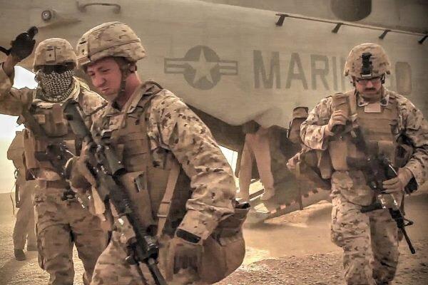 المیادین: «خروج ایمن» تفنگداران دریایی آمریکا از عراق آغاز شد