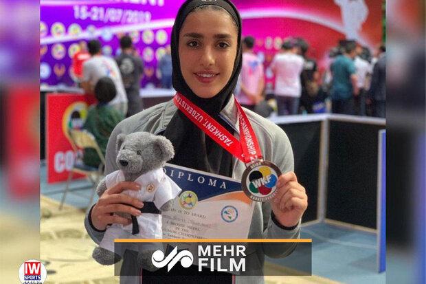 اجرای کاتای فاطمه صادقی/ برنز قهرمانی آسیا در ازبکستان
