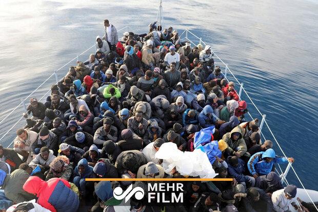 غرق شدن کشتی مهاجران در مدیترانه