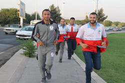دونده سفیر صلح و دوستی جمعیت هلال احمر وارد قزوین شد