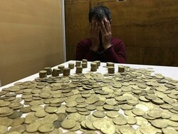 Ancient coins, antiquities seized in southwest Iran