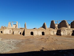 Centuries-old vertical-axis windmills are being restored in Tabas-e Masina, South Khorasan province, eastern Iran.