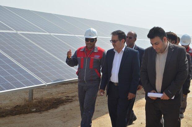 نیروگاه خورشیدی ۱۰ مگاواتی «کورده» لارستان احداث شد