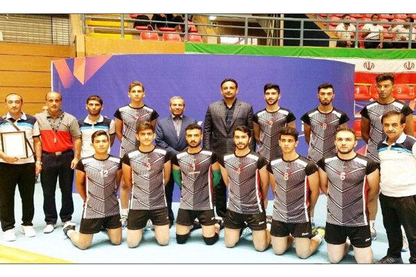 تیم والیبال دانش آموزی استان قزوین قهرمان کشور شد