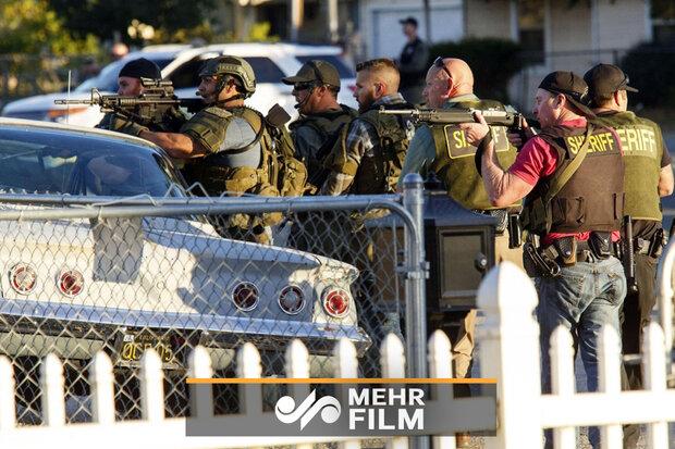 کیلیفورنیا میں فائرنگ کے بعد کا منظر