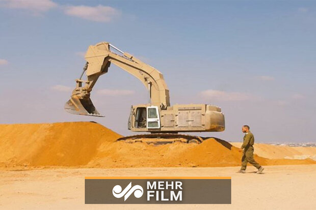 ایجاد موانع شنی در مرز غزه از ترس مقاومت