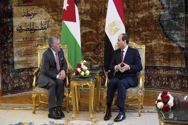 فلسطین و سوریه مهمترین محور مذاکرات سران مصر و اردن در قاهره