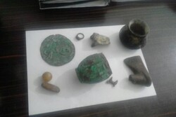 Antiquities recovered from illegal diggers in western Iran