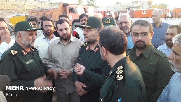 رئیس سازمان بسیج مستضعفین از مناطق سیل زده خوزستان بازدید کرد