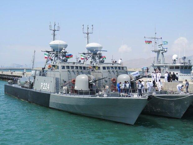 ناوگروه نیروی دریایی ارتش جمهوری اسلامی ایران وارد باکو شد