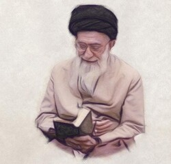 "Front cover of the Turkish version of ""Books and I"", which covers Leader of the Revolution Ayatollah Seyyed Ali Khamenei's spoken discourses on books."