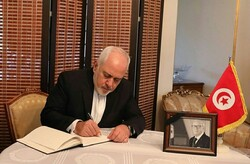 Iran's FM pays tribute to late Tunisian president