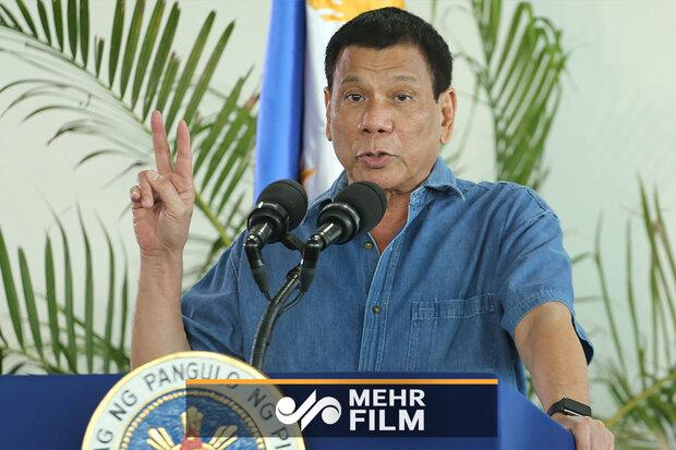 مگس مزاحمی که دست از سر رئیس جمهور فیلیپین برنداشت