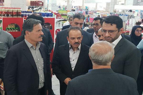 معاون وزیر کار از بزرگترین تعاونی مصرفقزوین بازدید کرد
