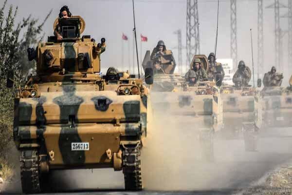 شام میں دہشت گردوں کی حمایت کرنے  والے ترک فوجی قافلہ پر حملہ