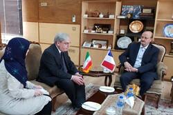 سفیر فرانسه در ایران با استاندار قزوین دیدار و گفتگو کرد