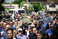 مرحوم حسین آہی کی تشییع جنازہ