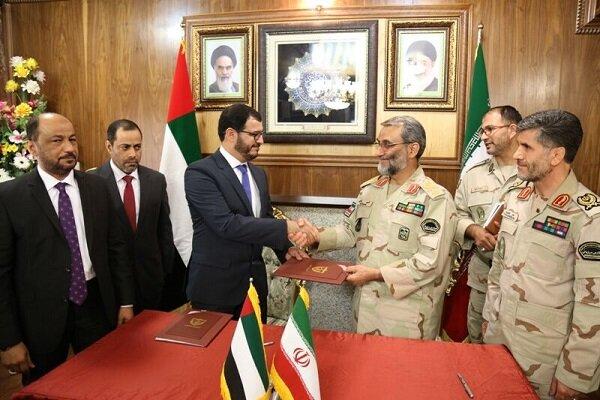 Iran, UAE ink MoU to boost border coop.