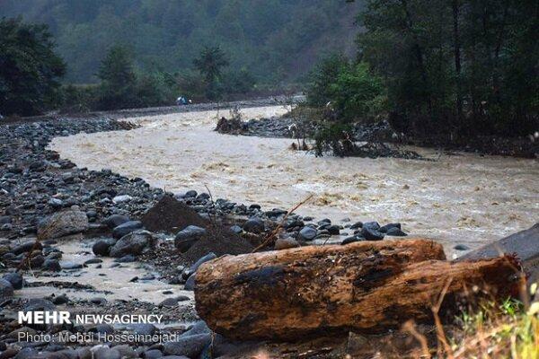 رودخانه های رامسر سیلابی شده است