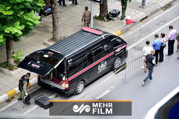 فیلمی از لحظات بعد از انفجار در بانکوک